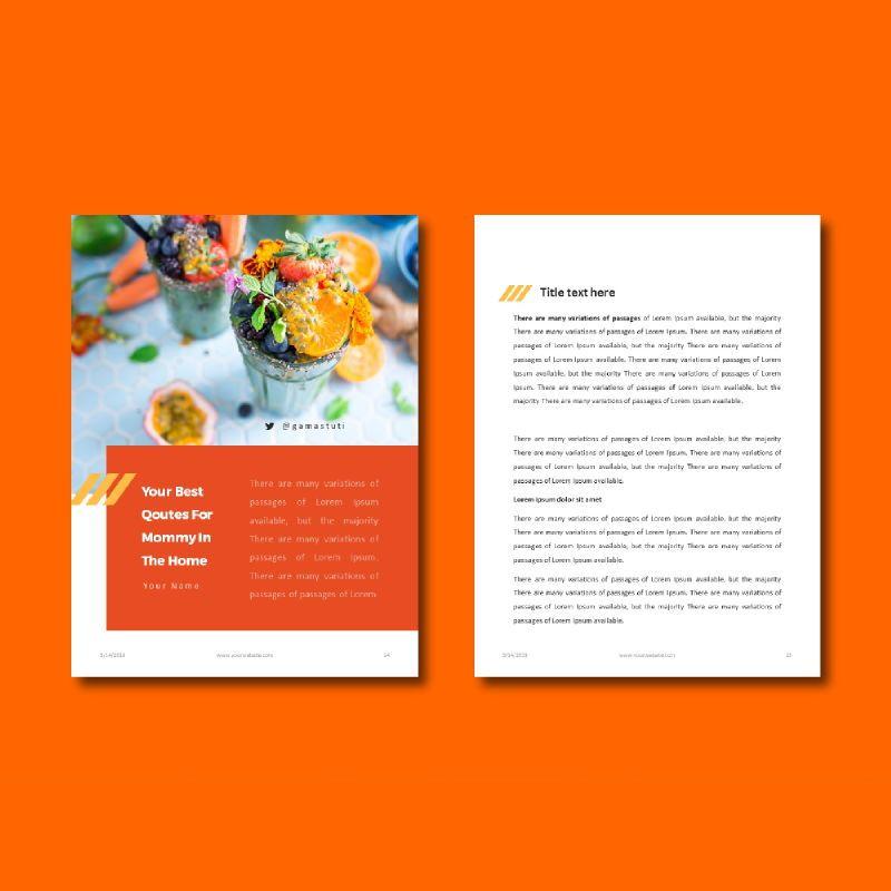 Recipe Book PowerPoint Presentation Template, Slide 8, 05056, Presentation Templates — PoweredTemplate.com