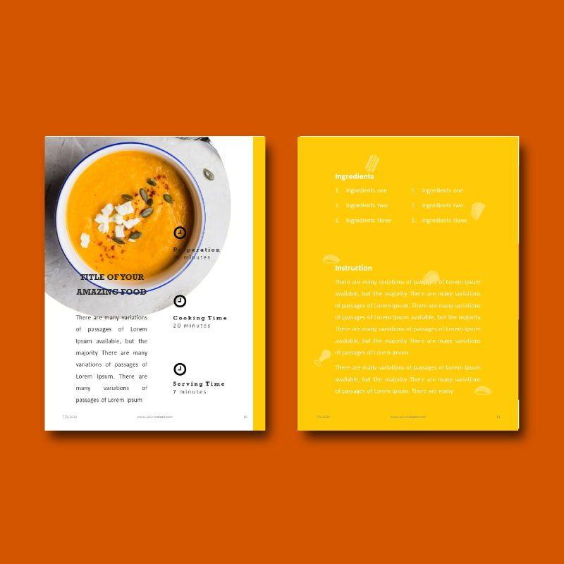 Recipe Food PowerPoint Presentation Template, Slide 6, 05057, Presentation Templates — PoweredTemplate.com