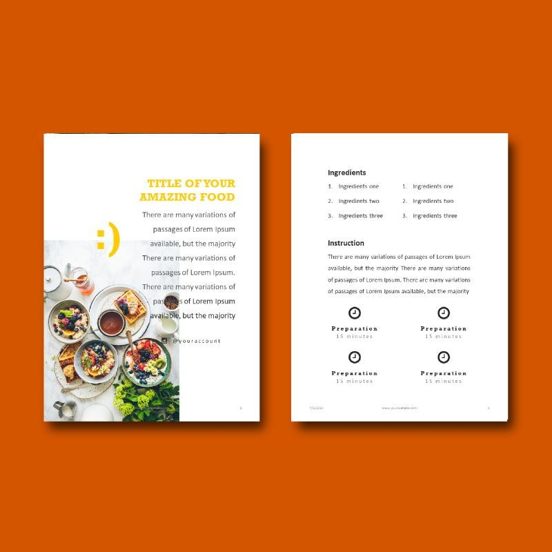 Recipe Food PowerPoint Presentation Template, Slide 7, 05057, Presentation Templates — PoweredTemplate.com