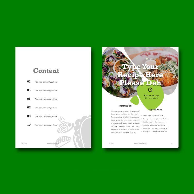 Vegetarian Keynote Presentation Template, Slide 4, 05058, Presentation Templates — PoweredTemplate.com