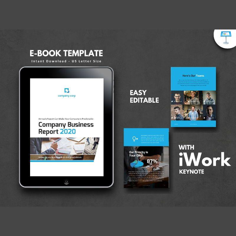 Business Report 2020 Keynote Presentation Template, 05059, Business Models — PoweredTemplate.com
