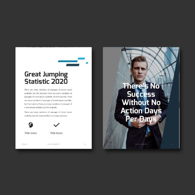 Business Report 2020 Keynote Presentation Template, Slide 8, 05059, Business Models — PoweredTemplate.com