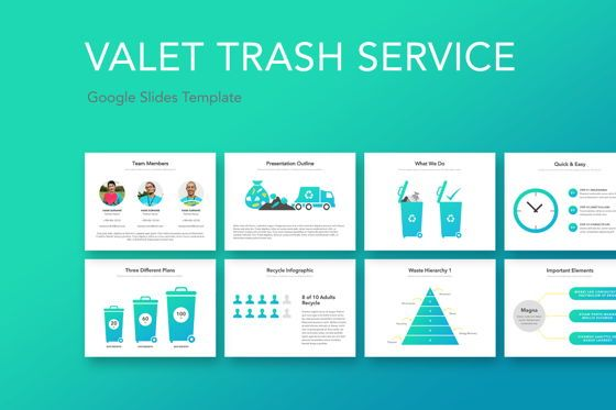 Presentation Templates: Valet Trash Google Slides Template #05063