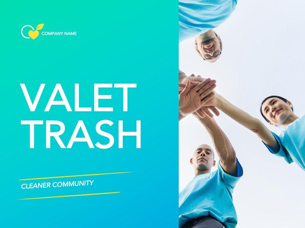 Valet Trash Google Slides Template, Slide 2, 05063, Presentation Templates — PoweredTemplate.com