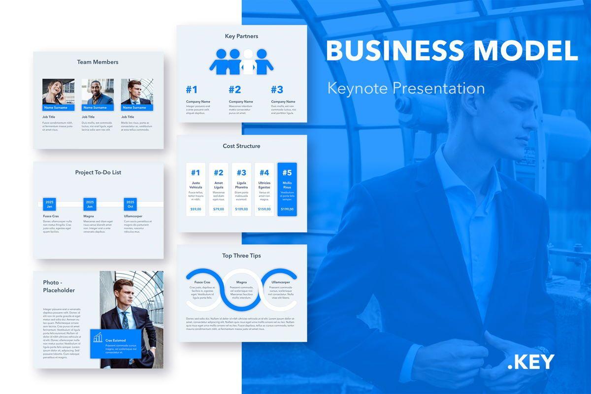 Business Model Keynote Template, 05067, Business Models — PoweredTemplate.com