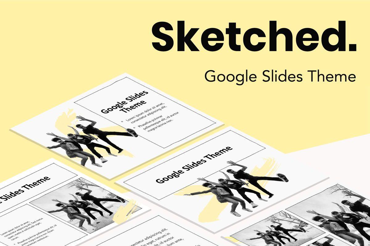 Sketched Google Slides Theme, 05068, Presentation Templates — PoweredTemplate.com