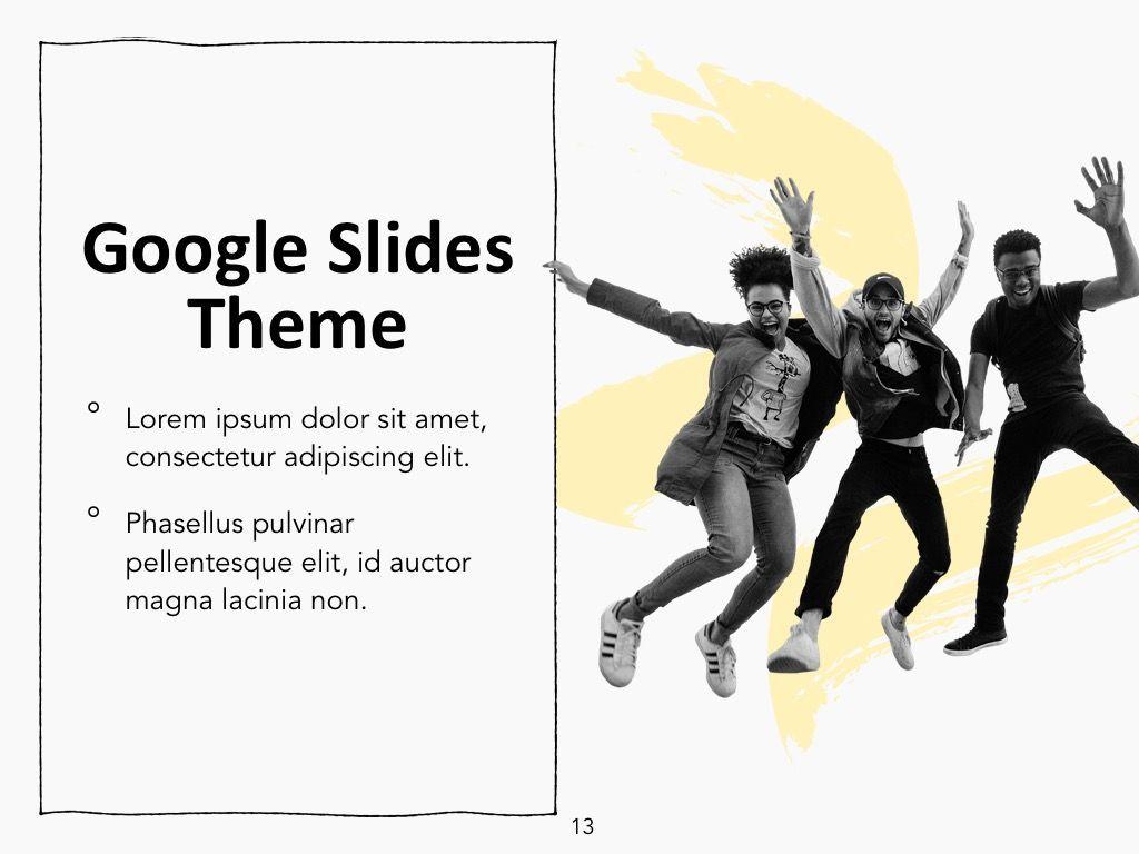 Sketched Google Slides Theme, Slide 14, 05068, Presentation Templates — PoweredTemplate.com