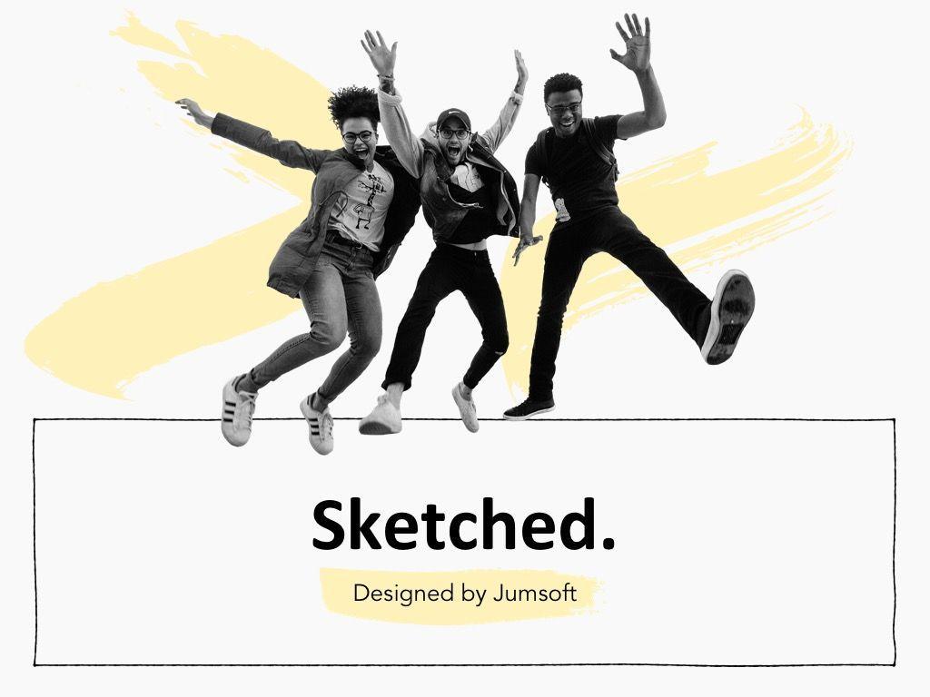 Sketched Google Slides Theme, Slide 2, 05068, Presentation Templates — PoweredTemplate.com