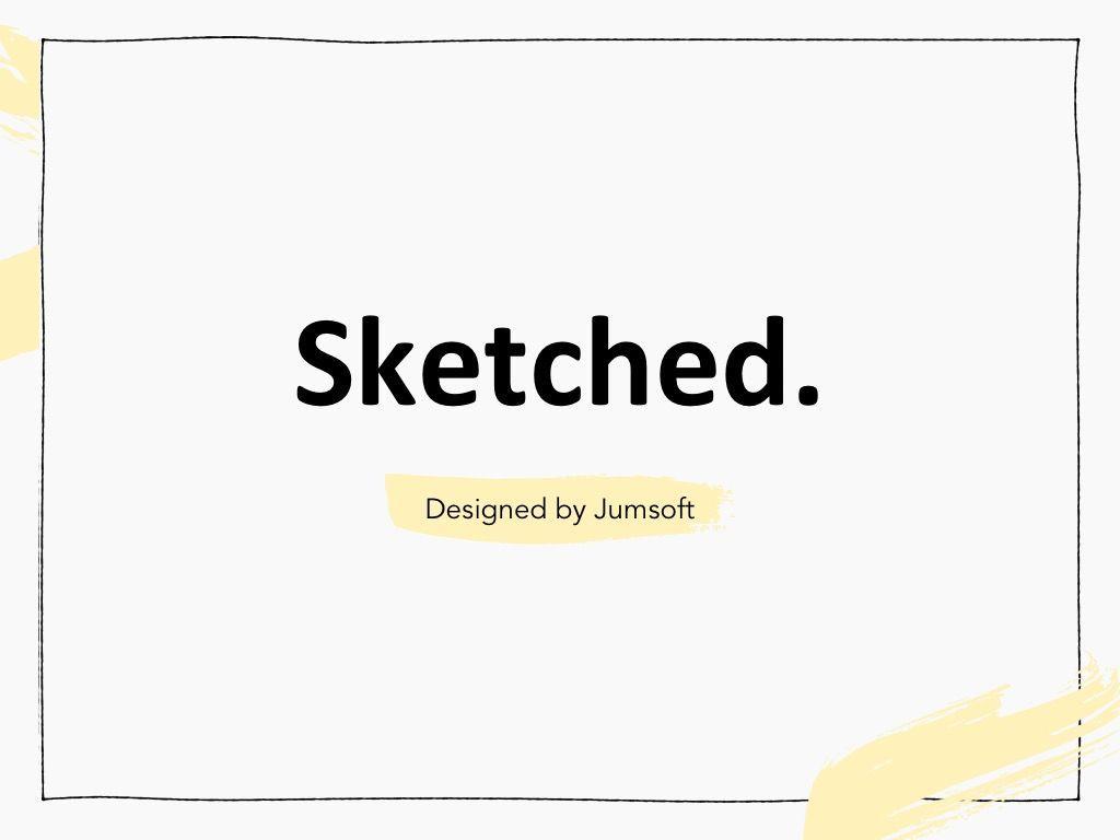 Sketched Google Slides Theme, Slide 3, 05068, Presentation Templates — PoweredTemplate.com