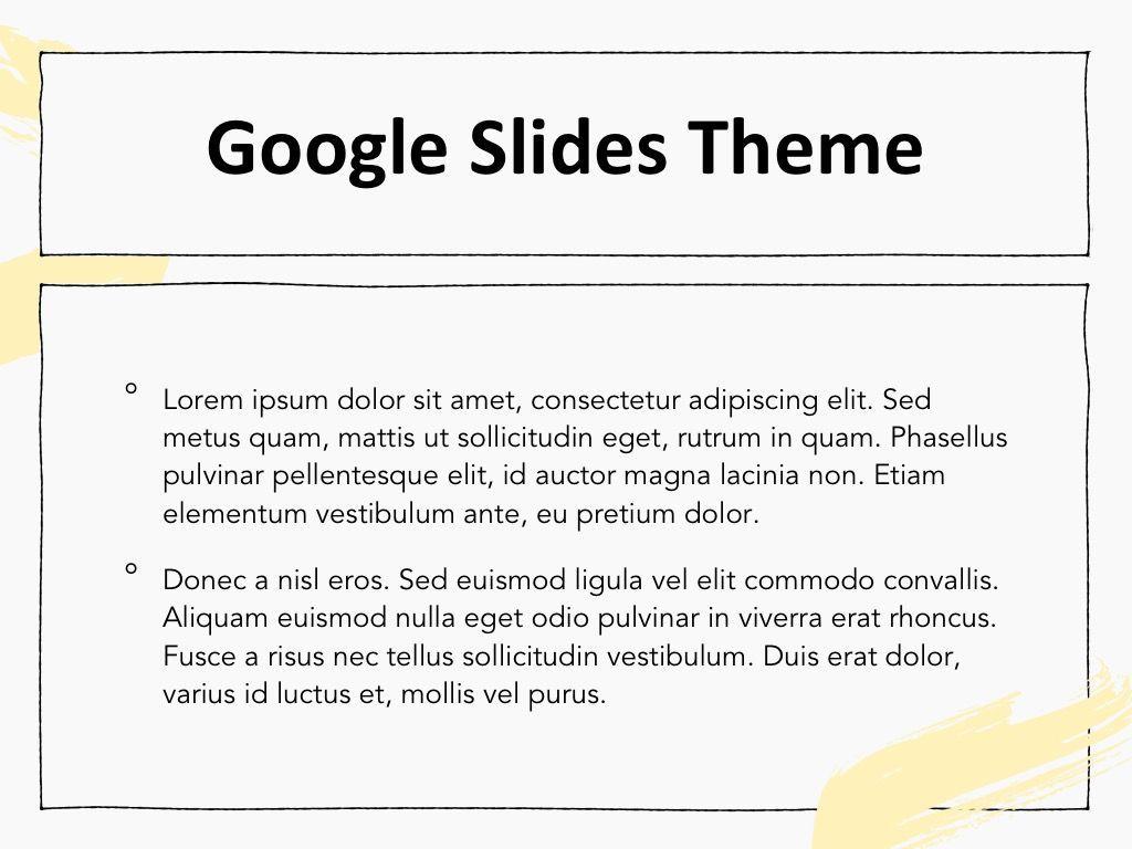 Sketched Google Slides Theme, Slide 4, 05068, Presentation Templates — PoweredTemplate.com
