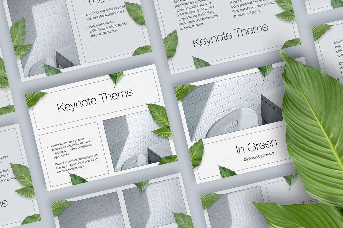 In Green Keynote Theme, 05069, Presentation Templates — PoweredTemplate.com
