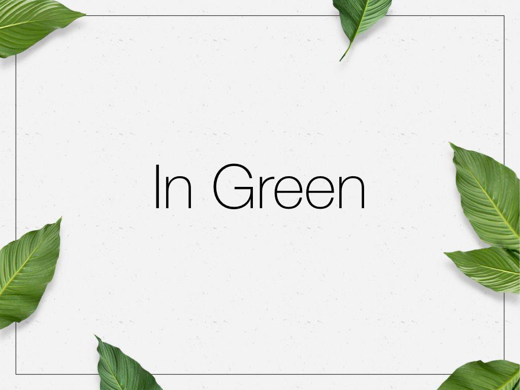 In Green Keynote Theme, Slide 10, 05069, Presentation Templates — PoweredTemplate.com