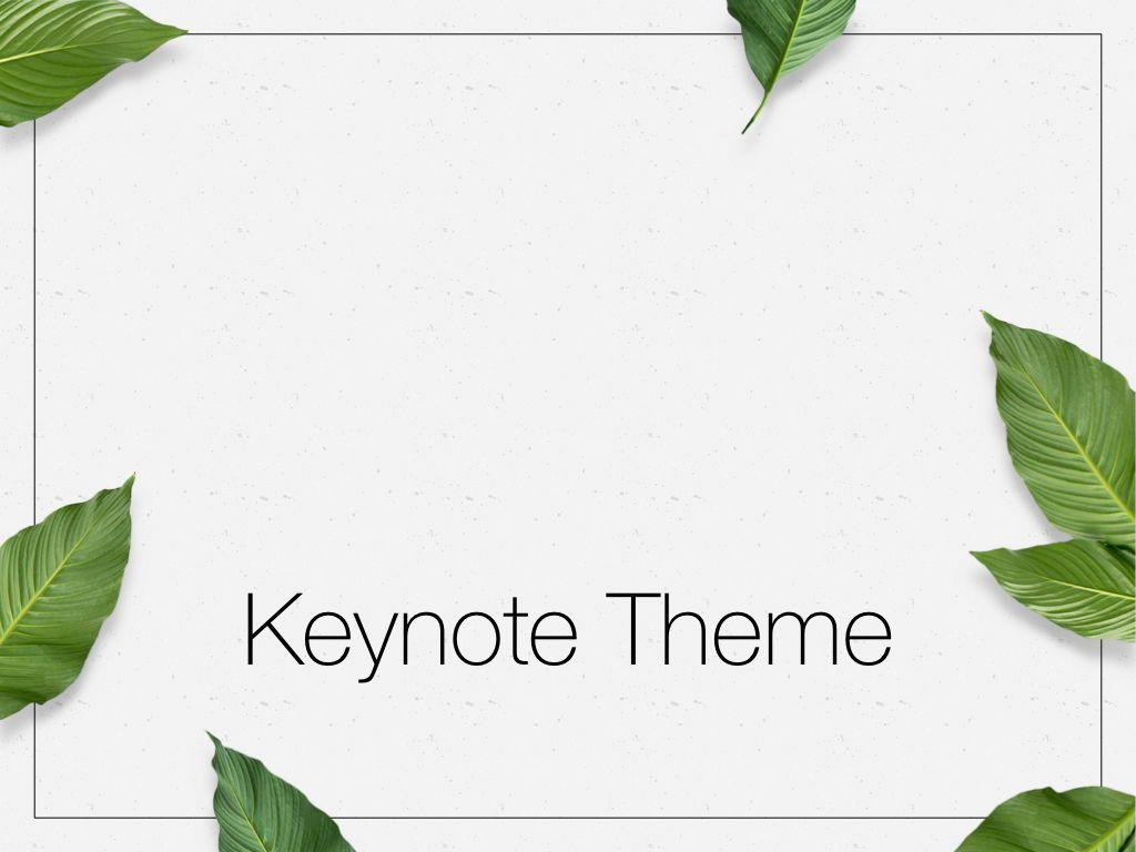 In Green Keynote Theme, Slide 11, 05069, Presentation Templates — PoweredTemplate.com