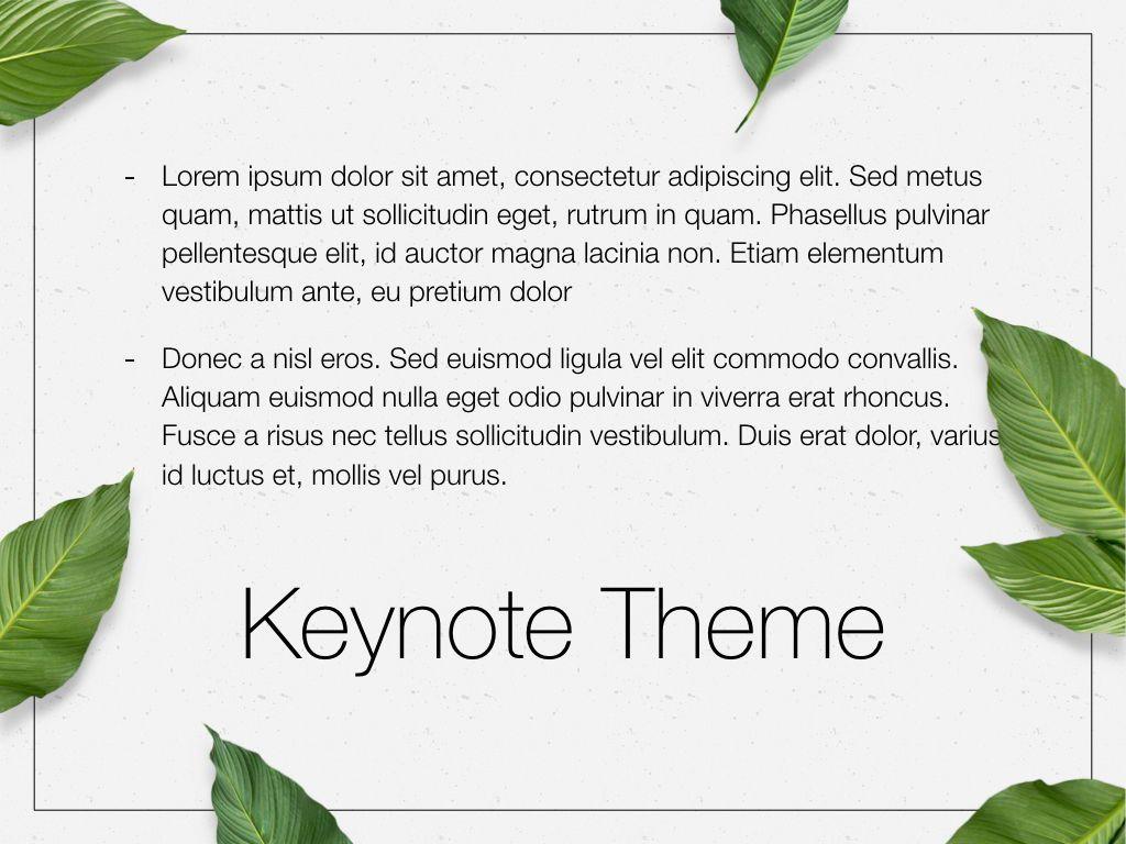 In Green Keynote Theme, Slide 12, 05069, Presentation Templates — PoweredTemplate.com