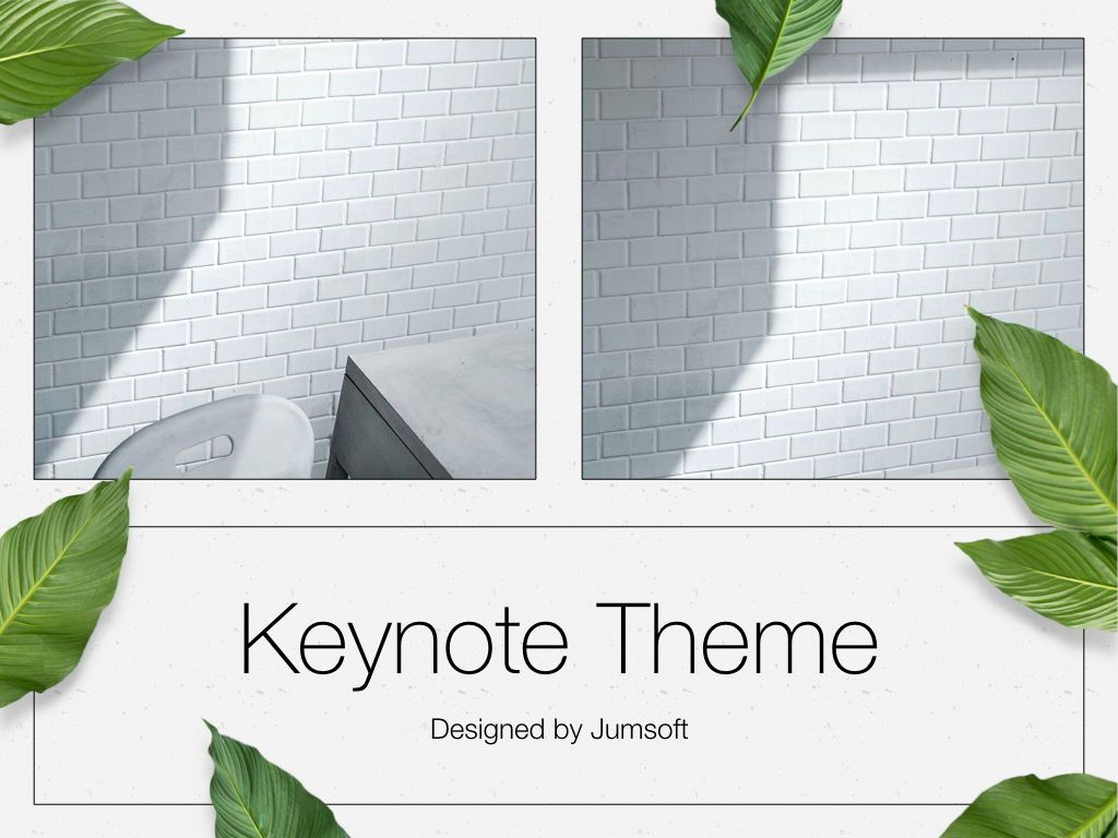 In Green Keynote Theme, Slide 14, 05069, Presentation Templates — PoweredTemplate.com