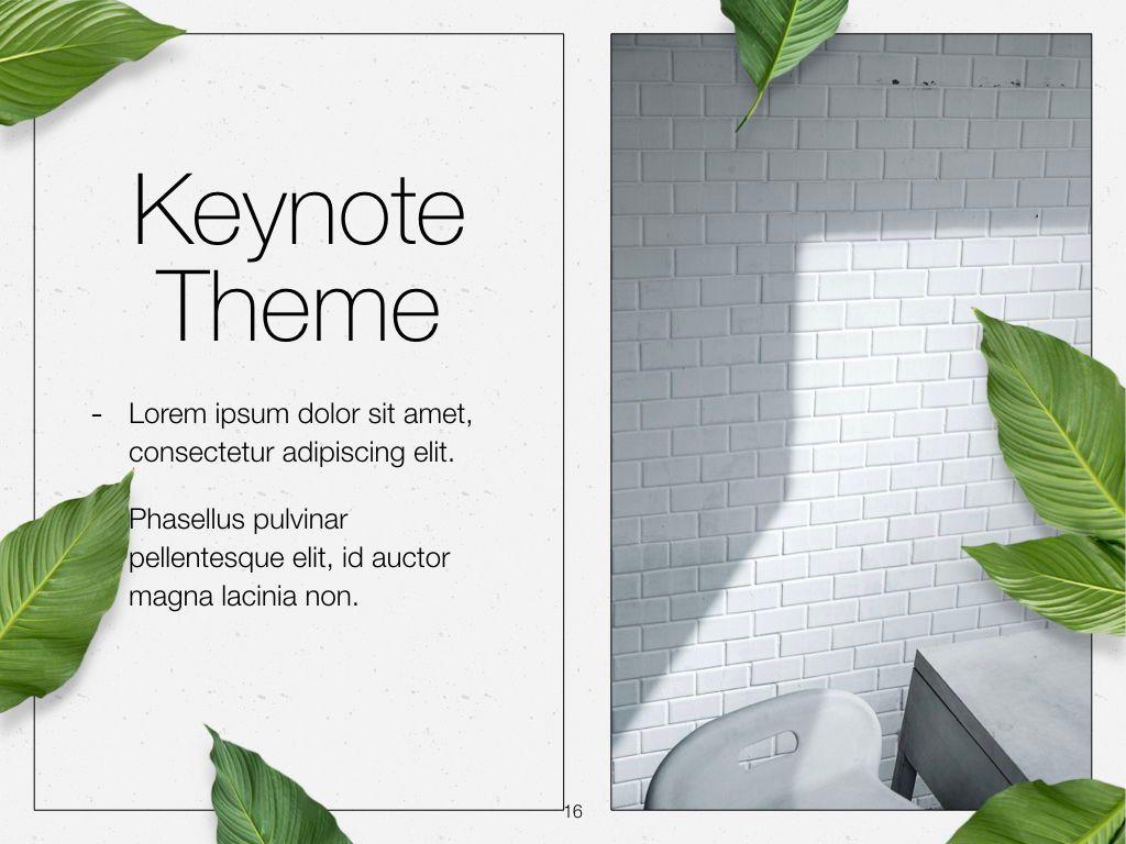 In Green Keynote Theme, Slide 17, 05069, Presentation Templates — PoweredTemplate.com