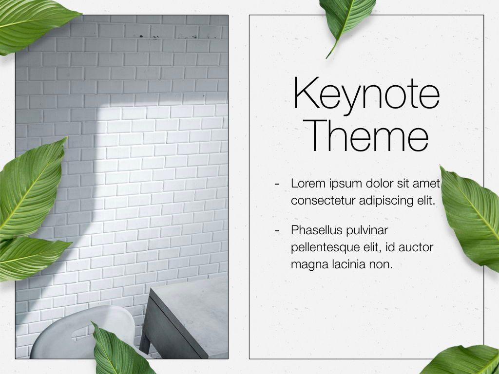 In Green Keynote Theme, Slide 18, 05069, Presentation Templates — PoweredTemplate.com