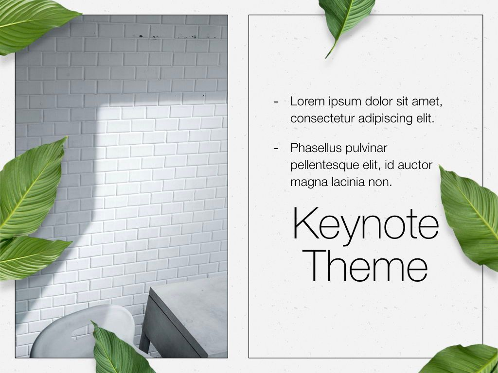 In Green Keynote Theme, Slide 20, 05069, Presentation Templates — PoweredTemplate.com