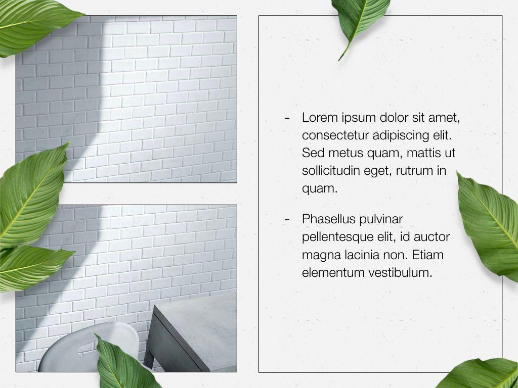 In Green Keynote Theme, Slide 24, 05069, Presentation Templates — PoweredTemplate.com