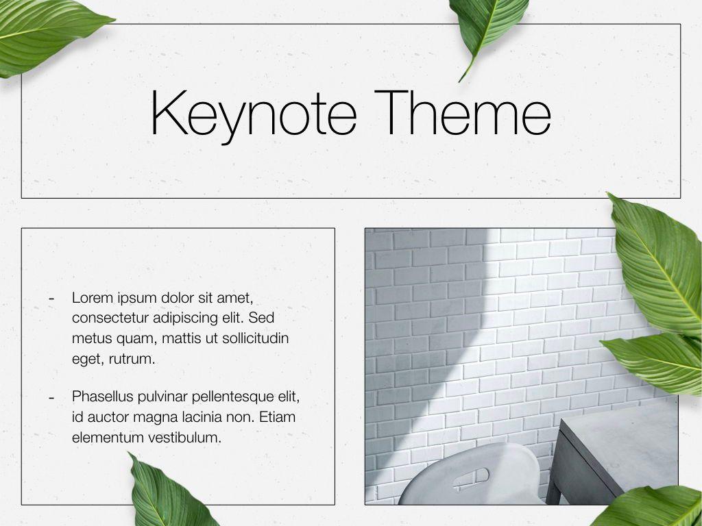 In Green Keynote Theme, Slide 30, 05069, Presentation Templates — PoweredTemplate.com