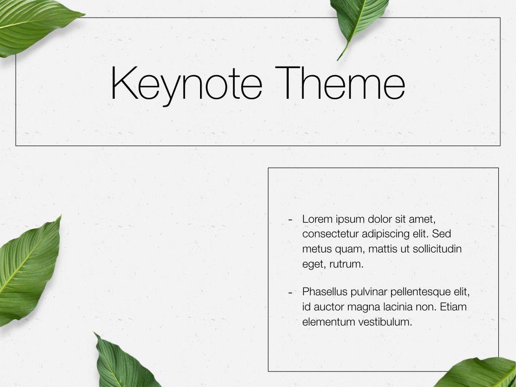 In Green Keynote Theme, Slide 33, 05069, Presentation Templates — PoweredTemplate.com