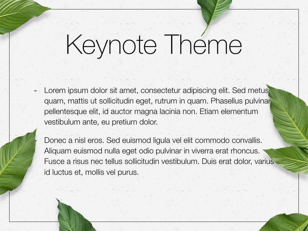 In Green Keynote Theme, Slide 4, 05069, Presentation Templates — PoweredTemplate.com