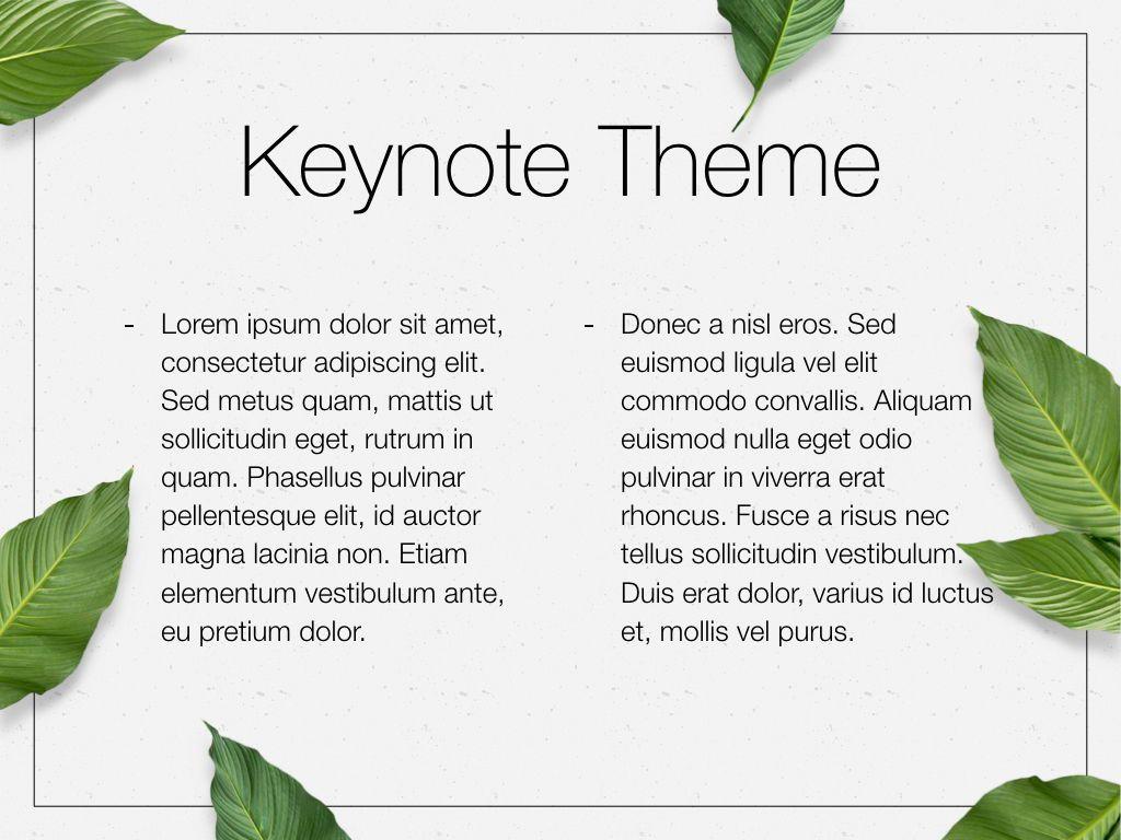 In Green Keynote Theme, Slide 5, 05069, Presentation Templates — PoweredTemplate.com
