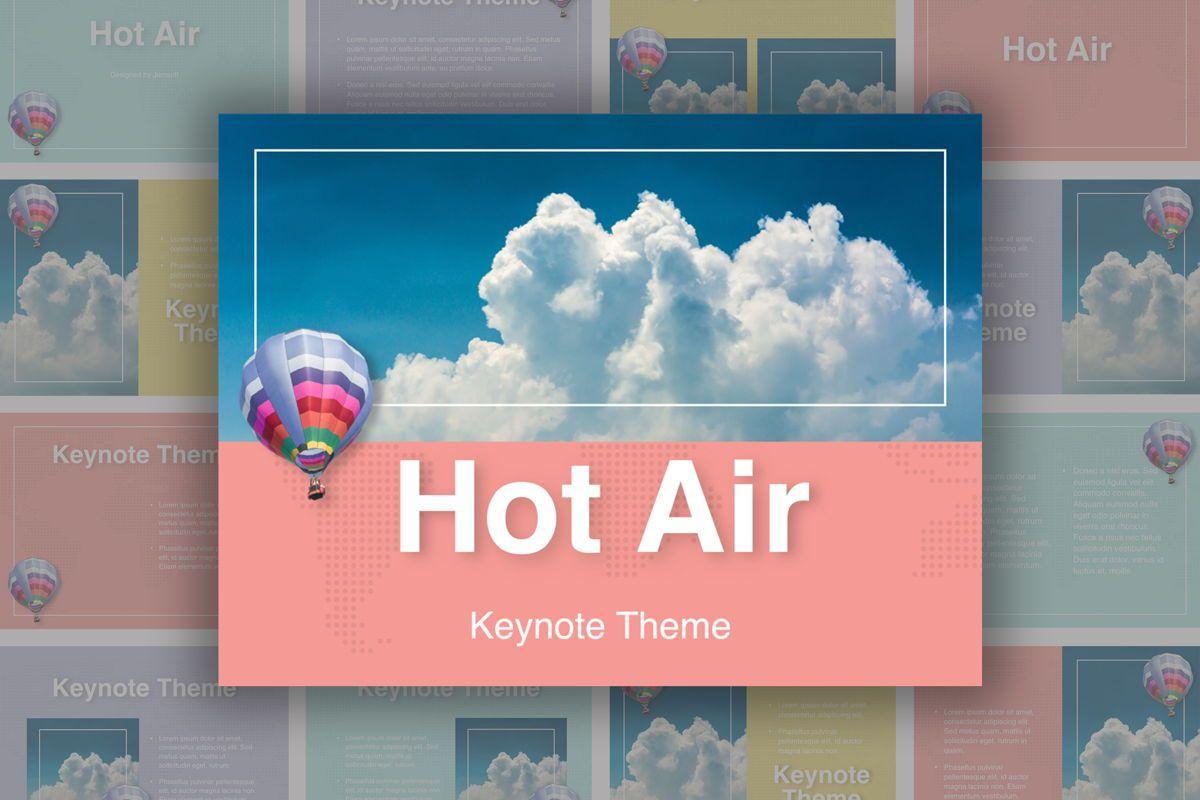 Hot Air Keynote Theme, 05070, Presentation Templates — PoweredTemplate.com