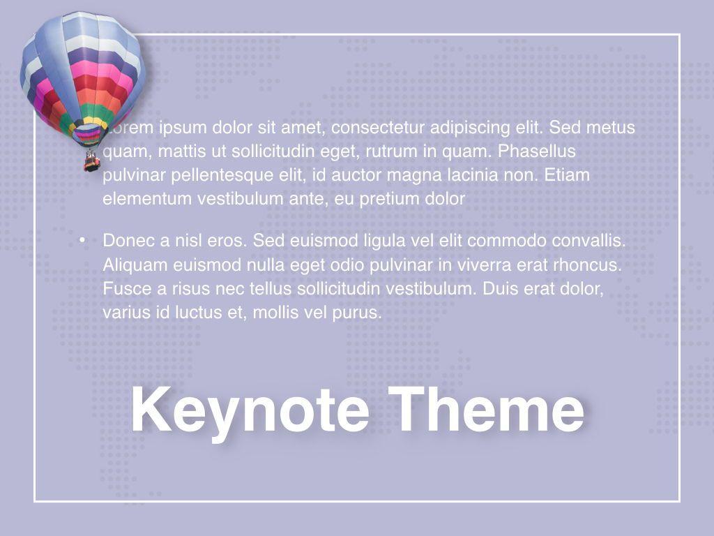 Hot Air Keynote Theme, Slide 12, 05070, Presentation Templates — PoweredTemplate.com