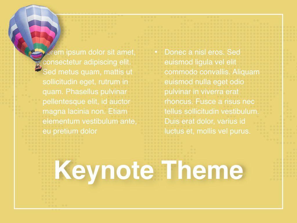 Hot Air Keynote Theme, Slide 13, 05070, Presentation Templates — PoweredTemplate.com