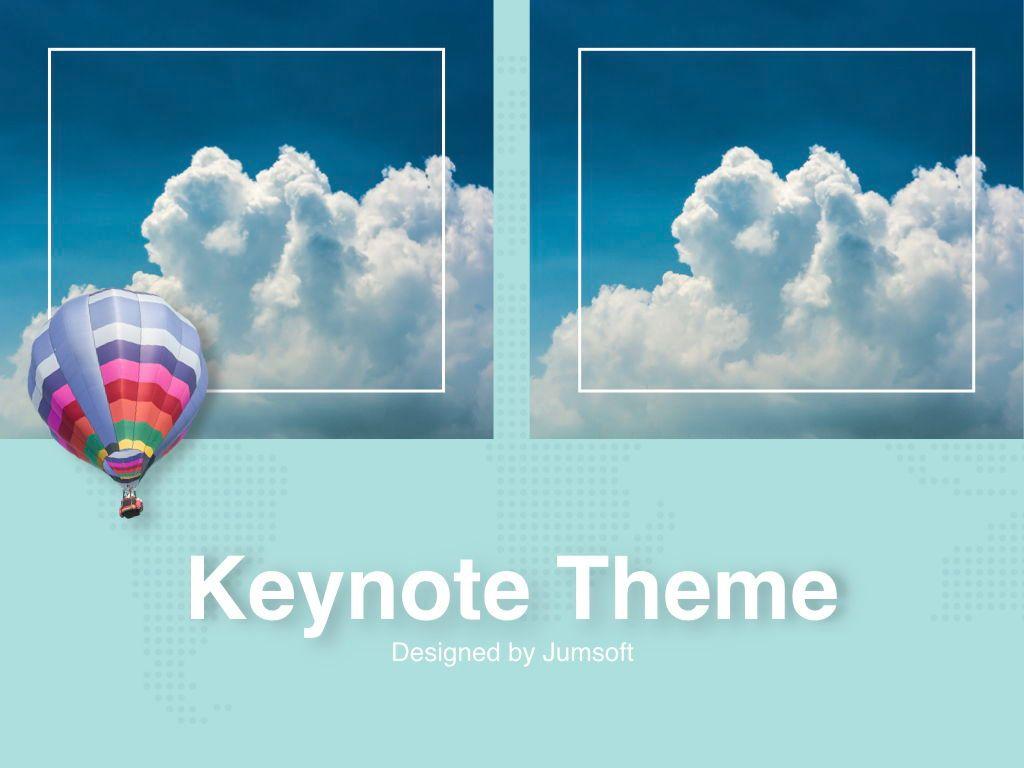 Hot Air Keynote Theme, Slide 14, 05070, Presentation Templates — PoweredTemplate.com