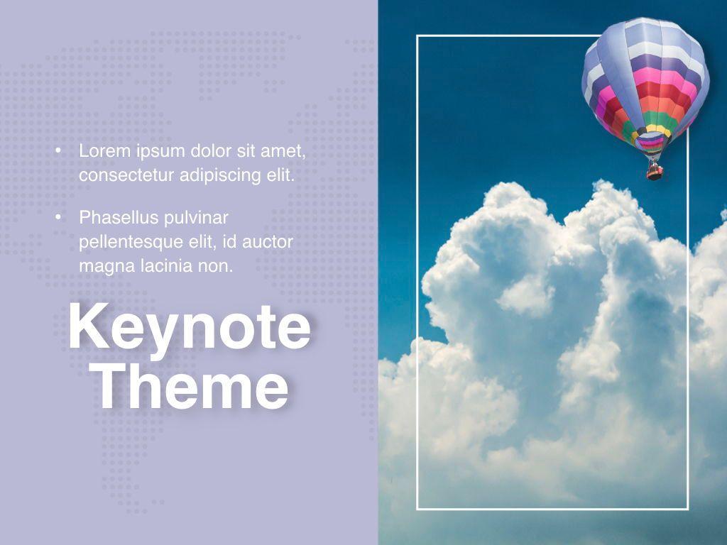 Hot Air Keynote Theme, Slide 19, 05070, Presentation Templates — PoweredTemplate.com