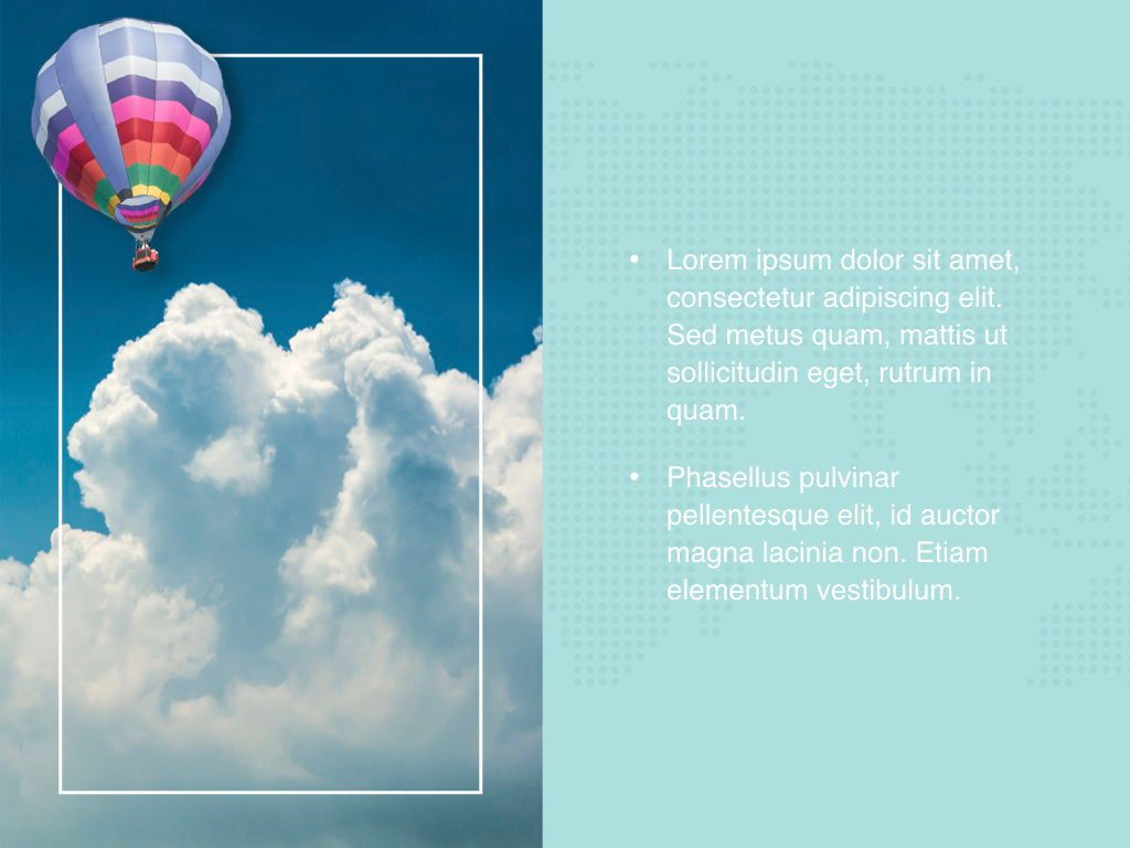 Hot Air Keynote Theme, Slide 22, 05070, Presentation Templates — PoweredTemplate.com