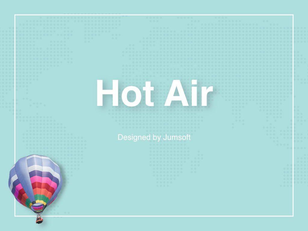 Hot Air Keynote Theme, Slide 3, 05070, Presentation Templates — PoweredTemplate.com