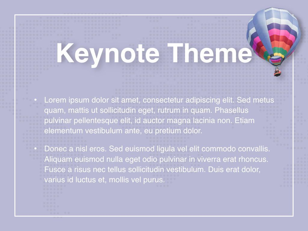 Hot Air Keynote Theme, Slide 4, 05070, Presentation Templates — PoweredTemplate.com