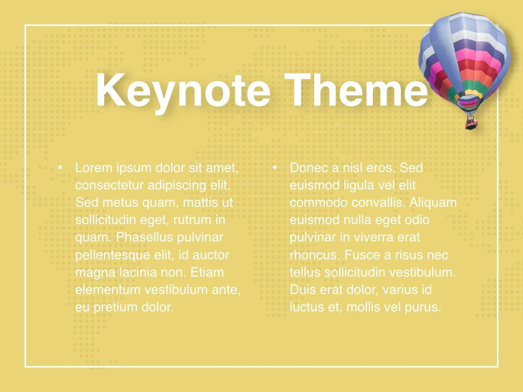 Hot Air Keynote Theme, Slide 5, 05070, Presentation Templates — PoweredTemplate.com