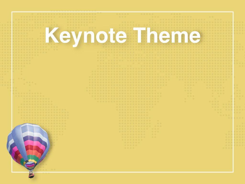 Hot Air Keynote Theme, Slide 9, 05070, Presentation Templates — PoweredTemplate.com