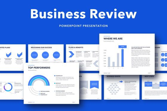 Business Models: Business Review PowerPoint Template #05071