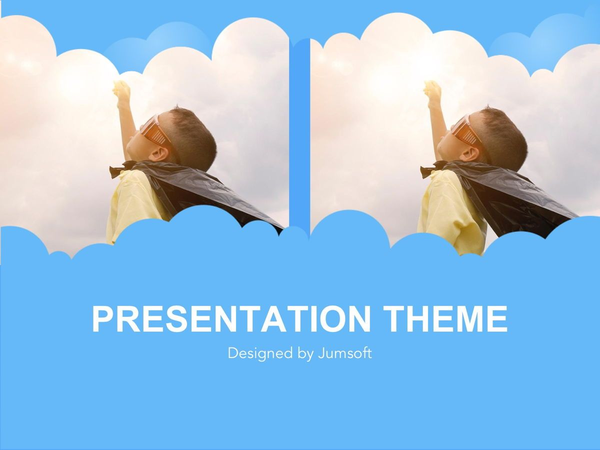Cloudy Google Slides Template, Slide 11, 05073, Education Charts and Diagrams — PoweredTemplate.com