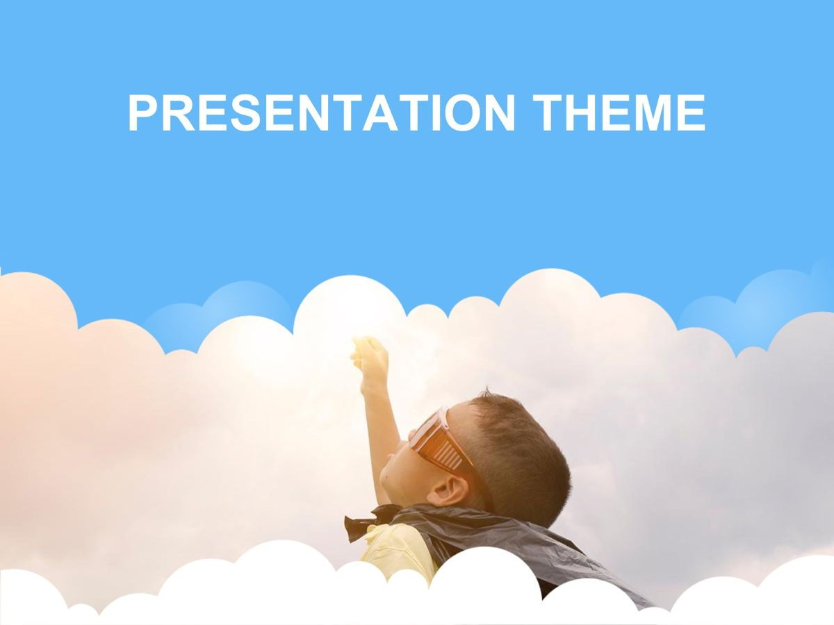 Cloudy Google Slides Template, Slide 12, 05073, Education Charts and Diagrams — PoweredTemplate.com