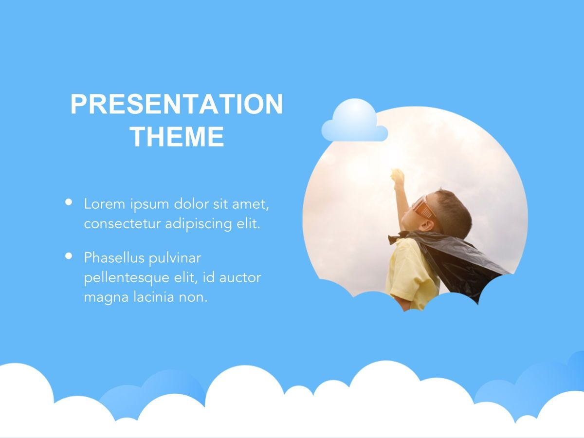 Cloudy Google Slides Template, Slide 14, 05073, Education Charts and Diagrams — PoweredTemplate.com