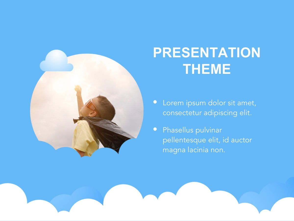 Cloudy Google Slides Template, Slide 15, 05073, Education Charts and Diagrams — PoweredTemplate.com