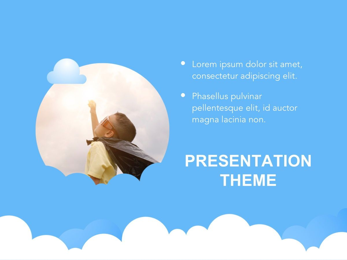 Cloudy Google Slides Template, Slide 17, 05073, Education Charts and Diagrams — PoweredTemplate.com