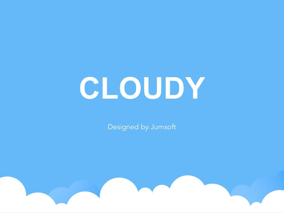 Cloudy Google Slides Template, Slide 2, 05073, Education Charts and Diagrams — PoweredTemplate.com