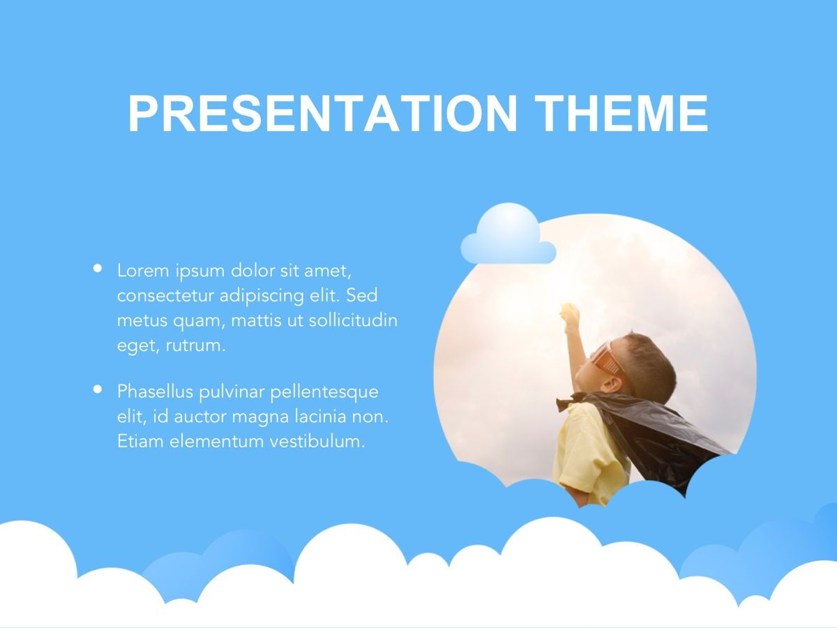 Cloudy Google Slides Template, Slide 27, 05073, Education Charts and Diagrams — PoweredTemplate.com