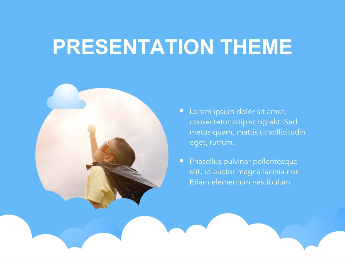 Cloudy Google Slides Template, Slide 28, 05073, Education Charts and Diagrams — PoweredTemplate.com