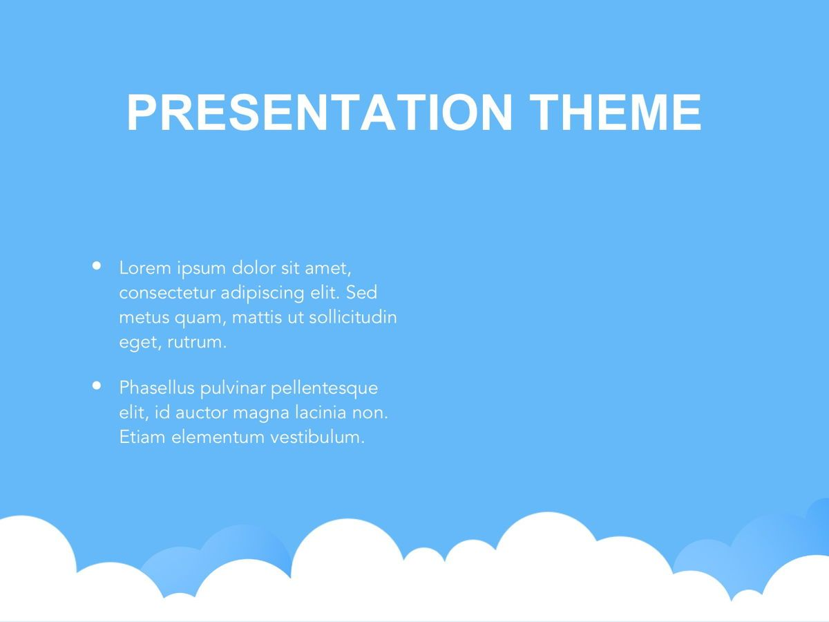 Cloudy Google Slides Template, Slide 29, 05073, Education Charts and Diagrams — PoweredTemplate.com