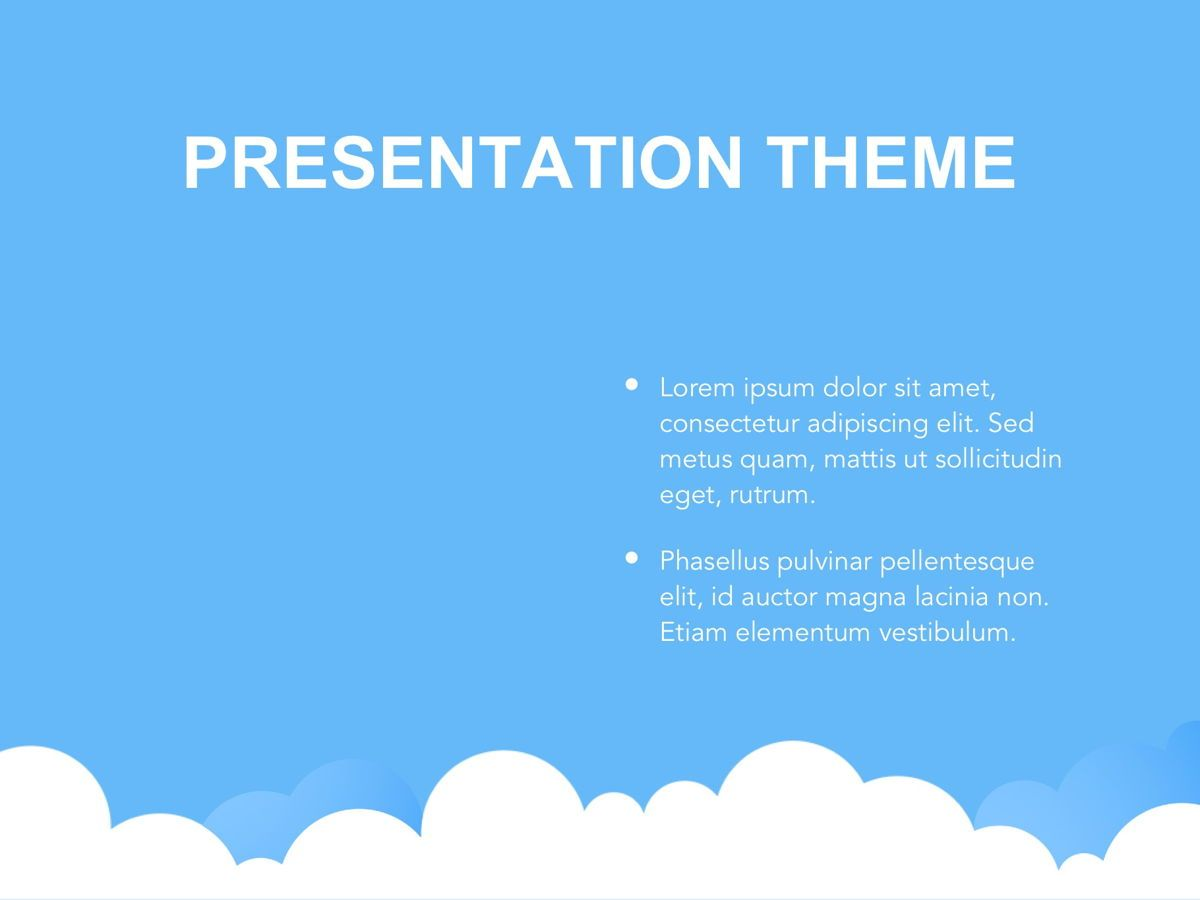 Cloudy Google Slides Template, Slide 30, 05073, Education Charts and Diagrams — PoweredTemplate.com