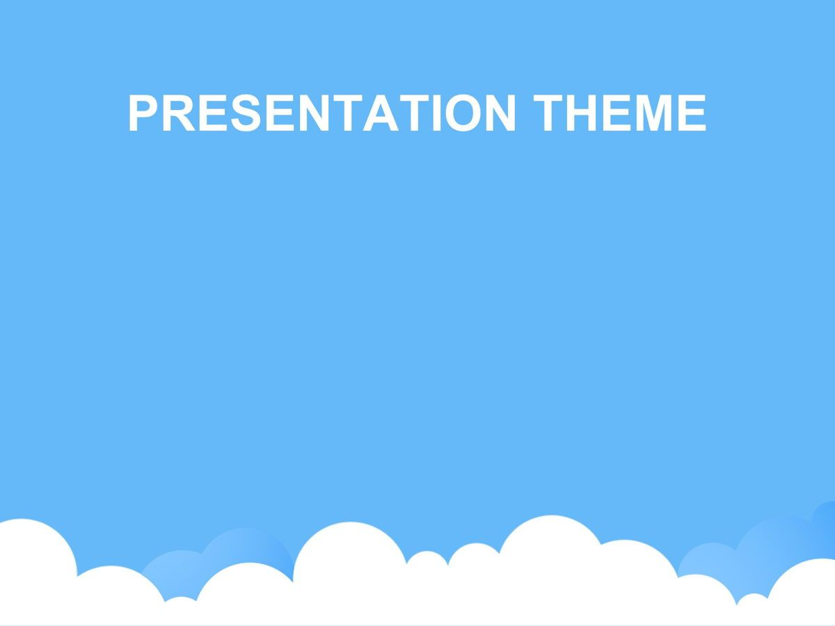 Cloudy Google Slides Template, Slide 6, 05073, Education Charts and Diagrams — PoweredTemplate.com
