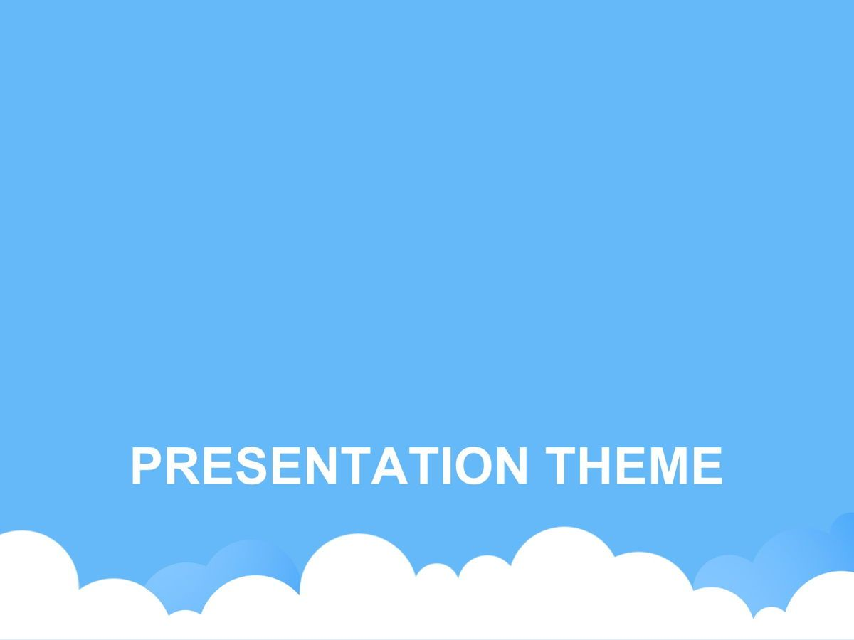 Cloudy Google Slides Template, Slide 8, 05073, Education Charts and Diagrams — PoweredTemplate.com